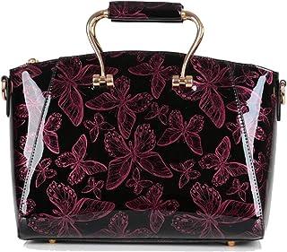 Trendy Ladies Fashion Bow Handbag Casual Retro Shoulder Bag Zgywmz (Color : Red, Size : 30 * 15 * 24cm)