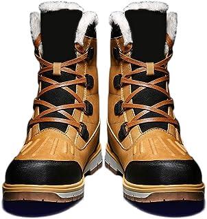lefeindgdi - Scarpe invernali da uomo, calde, stivali da neve, antiscivolo, addensare casual, per escursioni all'aperto