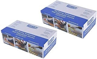Gmark Disposable Gloves 1000 Pcs, Plastic Gloves for Kitchen Cooking Food Handling Cleaning, Powder and Latex Free 2 Box of 500 Count GM1070
