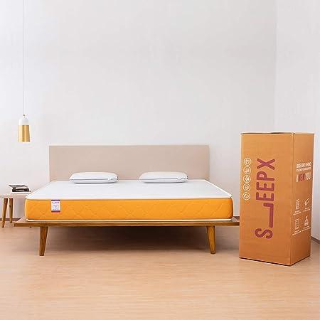 SleepX Dual Comfort Mattress- Medium Soft & Hard (Orange, 78x72x6)