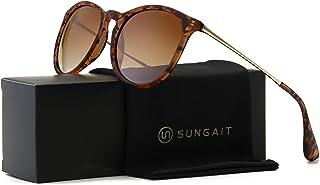 SUNGAIT Vintage Round Sunglasses for Women Classic Retro...