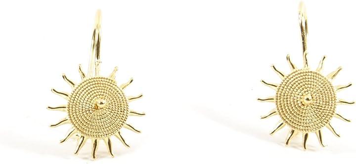 Orecchini sole corbula oro giallo 18kt  marrocu gioielli OS703017