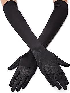1920s Opera Satin Long Gloves 19.5