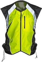 Badass Moto Gear Hi Vis Reflective Motorcycle Vest. Mil-Spec. No Logo, Fits Over Jackets. Adjustable Sides, Zipper Front & Pocket. Bikers, ATV, Hunting, Cycling, Military, XL