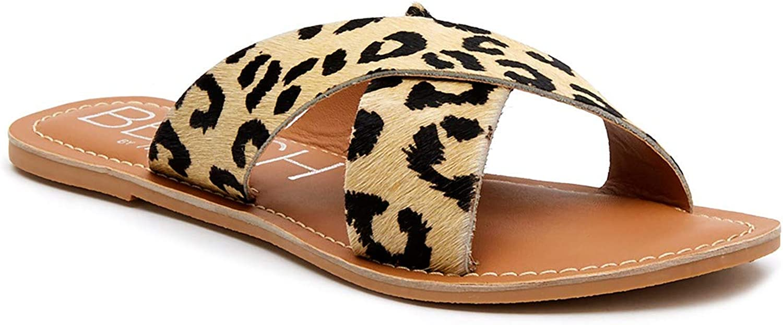 BEACH by Matisse Womens Pebble Leopard Slide Sandals Sandals Cas