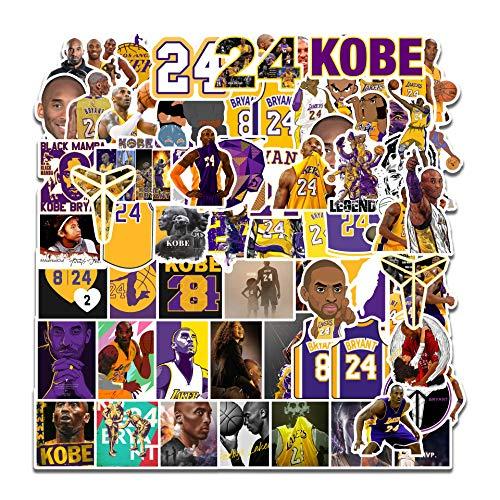 Basketball-Stern-Aufkleber, schwarz, Mamba, Aufkleber für Laptop, Auto, Zimmer, Wand, Auto, Fenster, Hydroflaschen, Wasserflaschen, 75 Stück