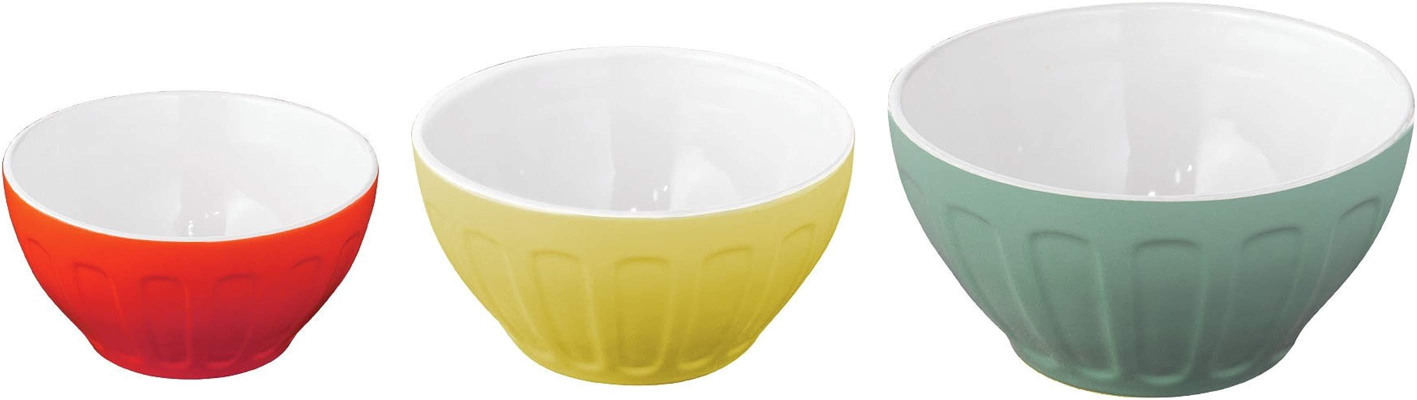 Good Cook OvenFresh Stoneware 3 Piece Mixing Bowl Set Multicolor