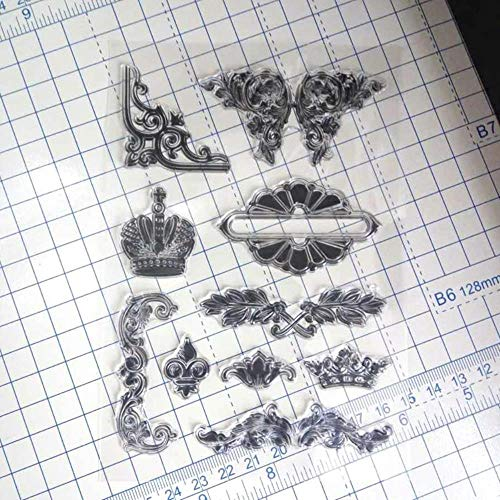 Clear Stamps Crown DIY Scrapbook Card Album Papier Craft Silicon Rubber Roller Transparant Stempel