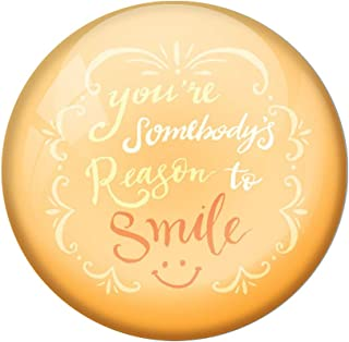 AVI Cream Metal Fridge Magnet with Positive Quotes You are Somebody's Reason for Smile Design MR8001176