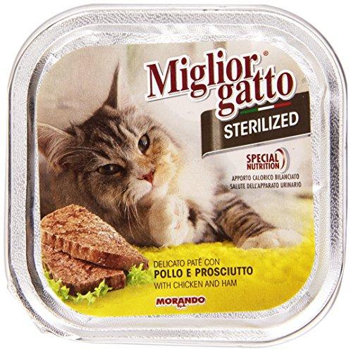 Migliorgatto Sterilized Paté con Pollo e Prosciutto per Gatti, 100g
