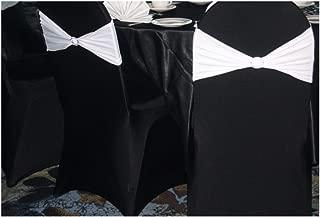 SPRINGROSE 50 Ecoluxe Black Scuba Spandex Stretch Banquet Wedding Chair Covers