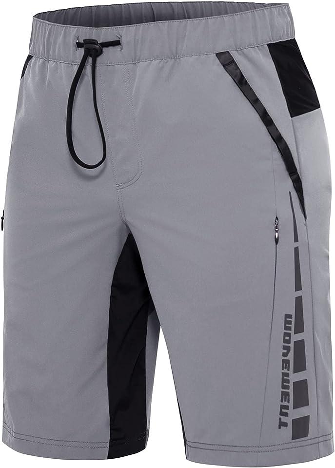 MTB-Hose-Radlerhose-Herren-Fahrradhose, Schnelltrocknend Radhose Herren Kurz, Mountainbike Hose Herren Elastische Outdoor Bike Shorts