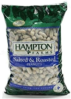 Hampton Farms Salted & Roasted In-shell Peanuts Large Bag Net Wt. 80 Oz (5 Lbs.)