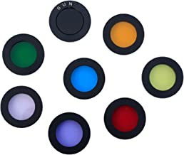 1.25 Inches Telescope Moon Filter, 8 Color Filters Set Telescope Eyepiece Lens Color Filter for Enhancing Definition and Resolution in Lunar Planetary Observation (8PCS)