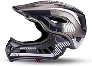 comprar comparacion ROCKBROS Casco para Niños para Bicicleta Casco Integral Infantil Desmontable Tamaño 48-58CM EPS PC Integrado a Prueba de G...