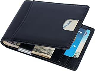 889ba855e79a79 Portafoglio Anti-RFID, Vera Pelle Portafoglio Uomo, Porta Carte di Credito,  Portafoglio