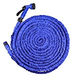 100ft (30m-35m), Enhanced Blue Lightweight expandable WATERGREENE garden hose pipe expands up to