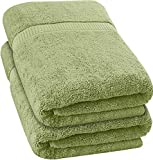 Utopia Towels - Luxurious Jumbo Bath Sheet (35 x 70 Inches, Sage Green) - 600 GSM 100% Ring Spun Cotton Highly Absorbent and Quick Dry Extra Large Bath Towel - Super Soft Hotel Quality Towel (2-Pack)