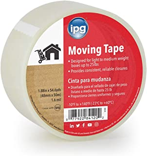 """IPG 610C Moving Tape, Clear 1.88"""" x 54.6 yd, (Single Roll)"""