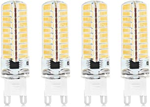 LED Light Bulb G9 Dimmable Silicone Corn Bulb 5730 SMD 80LED Energy Saving Lamp 5W LED Bulb for Home Lighting AC 220V (4 P...