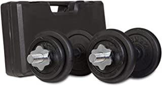 Lifespan Fitness 20kg Weight Set with Case Dumbbell