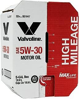 Valvoline 5W-30 MaxLife High Mileage Motor Oil - 5 gal Advanced Bay Box (881047)