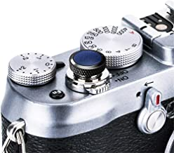 JJC Compatible Soft Shutter Release Button Cap for Fuji Fujifilm X-T30 XT30 X-T3 XT3 X100F X-Pro2 X-Pro1 X-T2 X-E3 X-E2S X-T20 X-T10 X100T X100S for Sony RX10 IV III II , RX1RII RX1R RX1 / B Blue