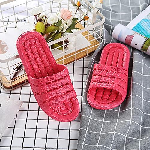 LLGG Zapatos de Playa y Piscina,Zapatillas de baño Huecas EVA, Sandalias de Fugas para Hombres-Melon Rojo_40-41,Zapatillas sin Cordones para Mujer/Hombre