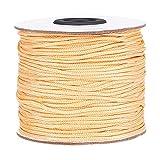 PandaHall Elite Hilo de nailon trenzado para persianas venecianas/enrollables, cordón de repuesto, Caqui claro, 1.5mm-100 Yards