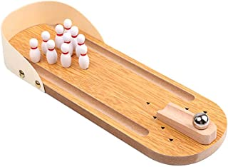 Kids Toys Children's Educational Wooden Mini Bowling Parent-Child Interactive Table Games Casual Decompression Indoor Game...
