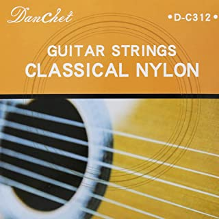 Sponsored Ad - Danchet C312 Nylon Silver Plated Copper Classical Guitar Strings,Normal Tension(1 Set)