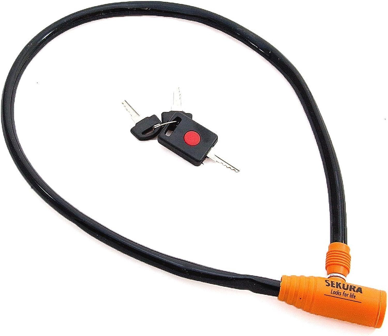 CCA SPORT DIRECT Sekura Cycle Cable Lock  6mm x 76cm  SLK7301