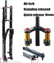 LSRRYD MTB Horquilla Delantera Bicicleta 26 27.5 29 Pulgadas Control Doble Hombro Suspensión Cuesta Abajo DH Presión del Aire Tubo Recto Ultraligero Amortiguador Ajuste Rebote