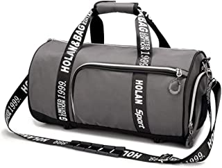 Sports Duffle Bag,Men And Women Holdall Training Sport Duffle For Travel Yoga Hiking Camping (Color : Gray, Size : L)