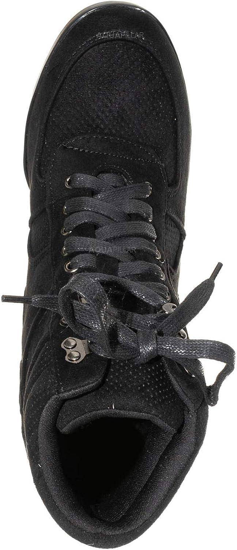 Aquapillar 90s Hidden Wedge Sneaker Athleisure Lace Up No Show Heel Shoes