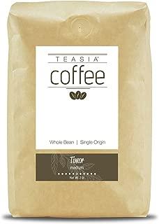 Teasia Coffee, Timor, Single Origin, Medium Roast, Whole Bean, 2-Pound Bag