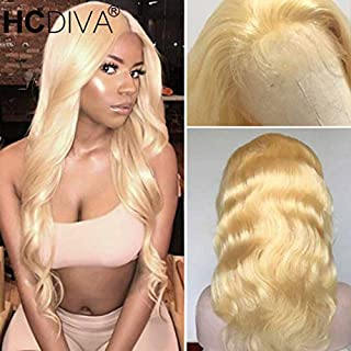 HCDIVA 613 Lace Front Wigs Human Hair Blonde Wig Body Wave Pre-Plucked Hairline with Baby Hair Glueless 150% Density Human Hair Wigs 13x4 Lace Front Wig(20