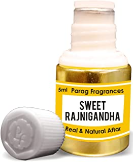 Parag Fragrances Sweet Rajnigandha Attar 5ml (Alcohol Free Long Lasting Attar For Men or Religious Use) Traditional Bhapka...