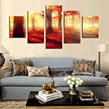 Painting canvas picture home decoration 5 pieces/piece sunset mangrove big poster HD print wall art modular living room