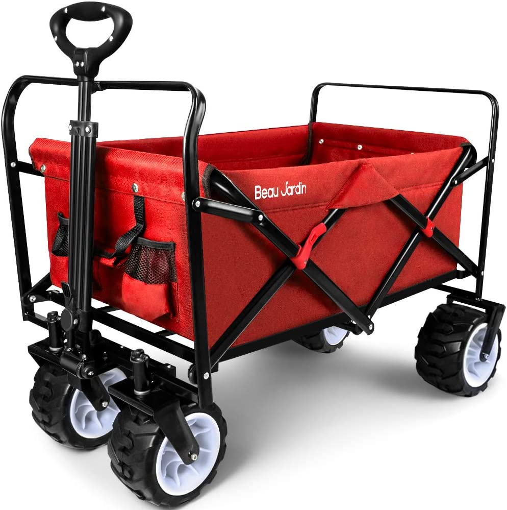 BEAU JARDIN Folding Wagon Manufacturer direct online shopping delivery Cart Ut 300 Collapsible Capacity Pound