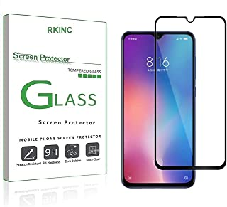 RKINC Screen Protector for Xiaomi Mi 9, [1 Pack] Full Coverage Tempered Glass Clear Screen Protector [9H Hardness][2.5D Ro...