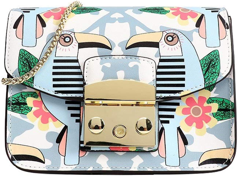 MALLTY Designer Leder Leder Leder Umhängetaschen Painted Print Schultertaschen Handtaschen Geldbörse für Frauen Mädchen (Farbe   Bird) B07JK9YTNJ  Gute Qualität b080c4