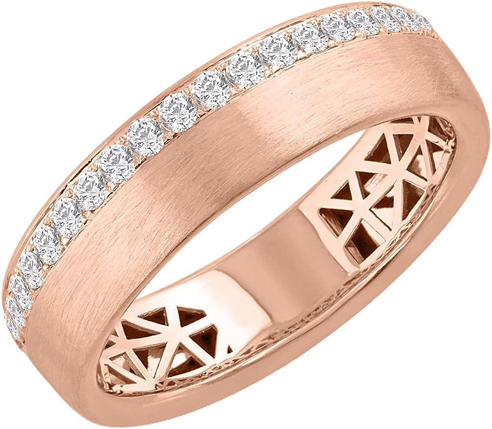 1/3 Carat Diamond Unisex Wedding Band Ring in 14K Gold