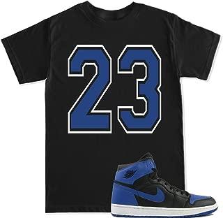 FTD Apparel Men's 23 Blue Retro 1 Royal Blue T Shirt