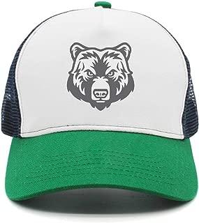 Brown Bear Play Basketball Women Men Snapback Hat Mesh Adjustable Sunscreen Cap Hip Hop caps