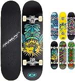 Osprey Skateboard Double Kick Pro. Monopatín infantil doble patada, plataforma 79cm de arce, ideal para niños principiantes y jóvenes avanzados. Skate Freestyle cóncavo, rodamientos ABEC 5. 6 modelos.
