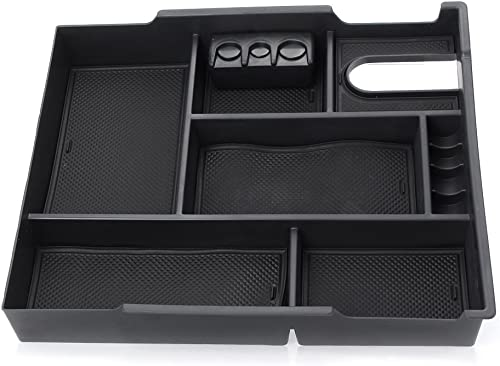 discount Mallofusa online Interior Car Center Console Armrest Storage Organizer Holder Tray Box Bin Compatible sale for Toyota Tundra 2014-2018 Accessories outlet sale