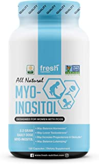 Myo-Inositol - PCOS - 2200mg - 120 High Potency Powder Capsules - Strongest and Best Value Myo Inositol - Potent Fertility and Reproductive Support – Healthy Ovulation and a Regular Cycle