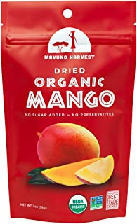 Mavuno Harvest Direct Trade Organic Dried Fruit, Mango, 2 Ounce (Pack of 6)