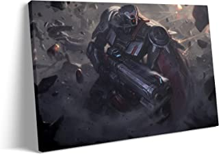 Wall Art Fashion for Living Room - The Outlaw Praetorian Graves Marksman MOBA Game Poster : Canvas Prints Art for Bedroom ...